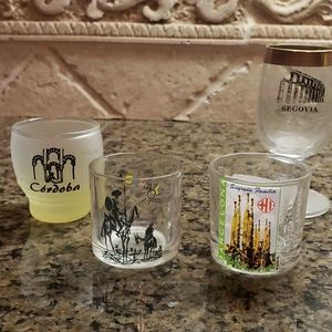 4 Spain shot glasses